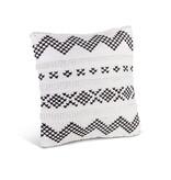 Fleurish Home Black & White Cotton Woven Square Pillow