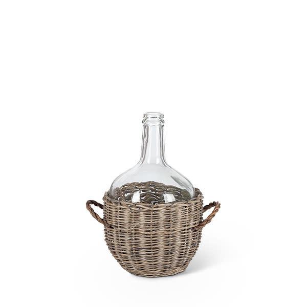 Fleurish Home Med Glass Jar in Basket