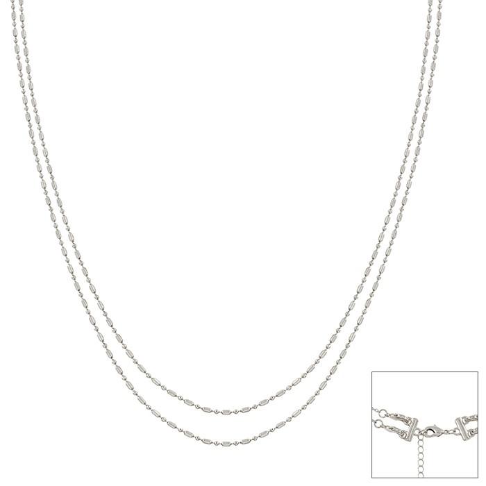 Fleurish Home Silver Layered Chain Choker Necklace