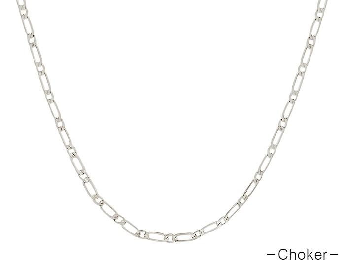 Fleurish Home Silver Chain Choker Necklace