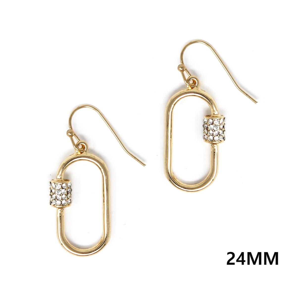 Fleurish Home Gold Carabiner Drop Earrings
