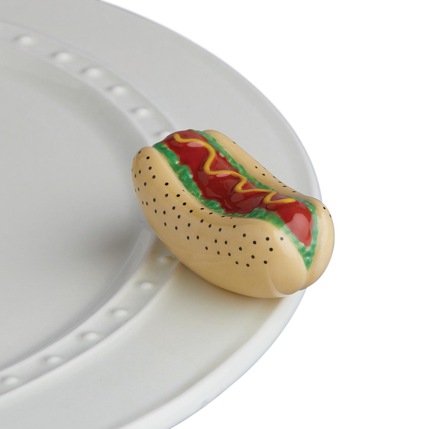 nora fleming chicago dog mini (hotdog)