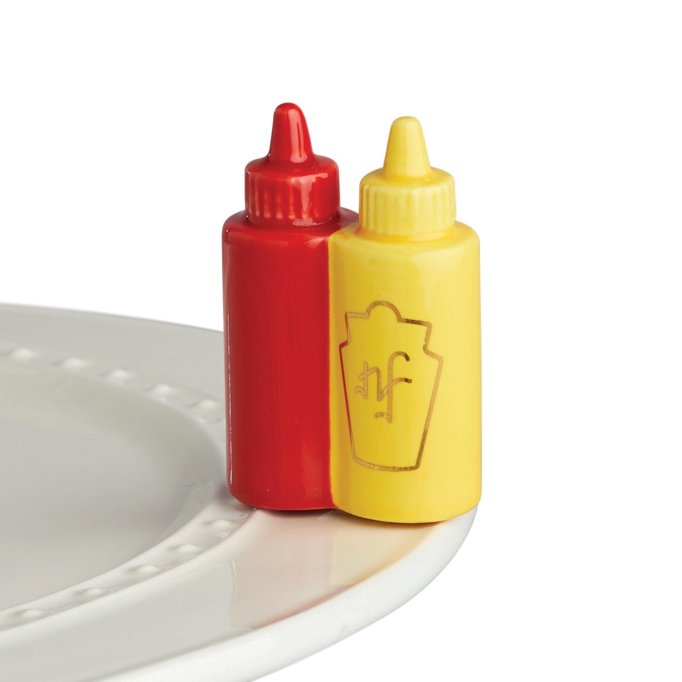 nora fleming main squeeze mini (ketchup and mustard)