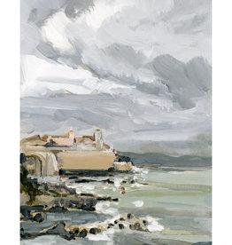 Laurie Anne Art Antibes Coast Vertical Canvas Print 8x10