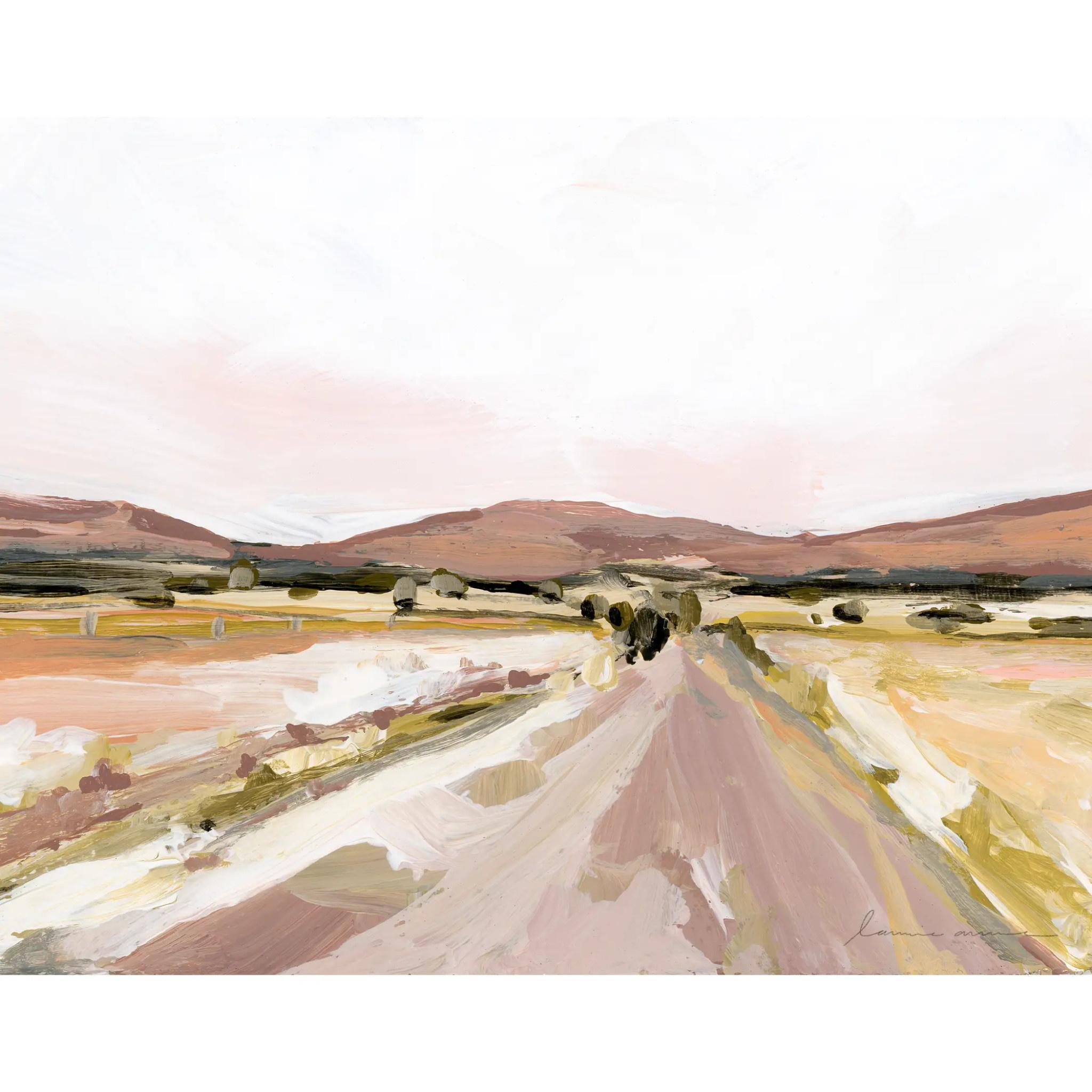 Laurie Anne Art Desert Road Horizontal Canvas Print 8x10