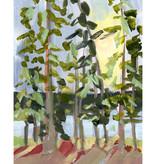 Laurie Anne Art Lake Martin Trees Vertical Canvas Print 8x10