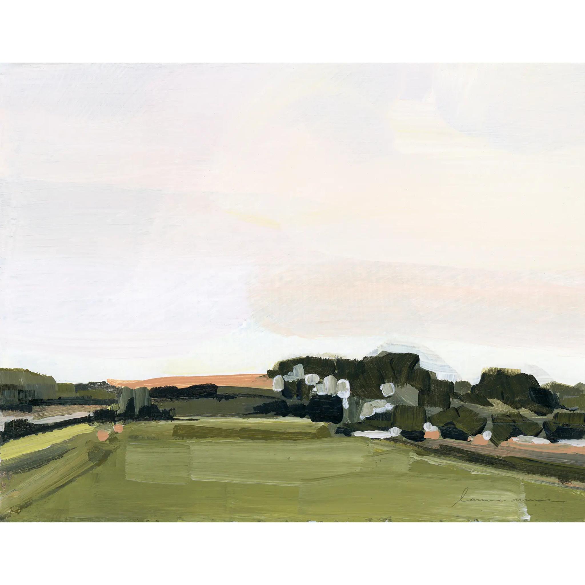 Laurie Anne Art Spanish Morning Horizontal Canvas Print 8x10