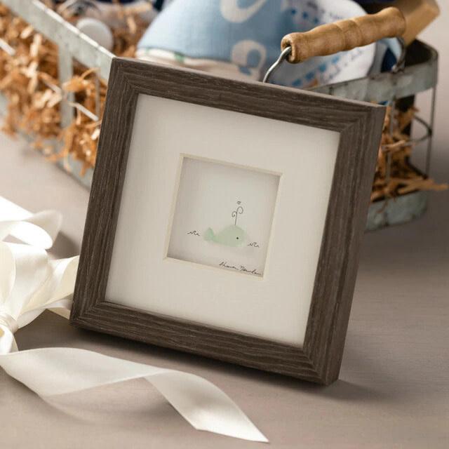 "Sharon Nowlan Dream Big Little One Pebble Art  6"" Square (whale)"