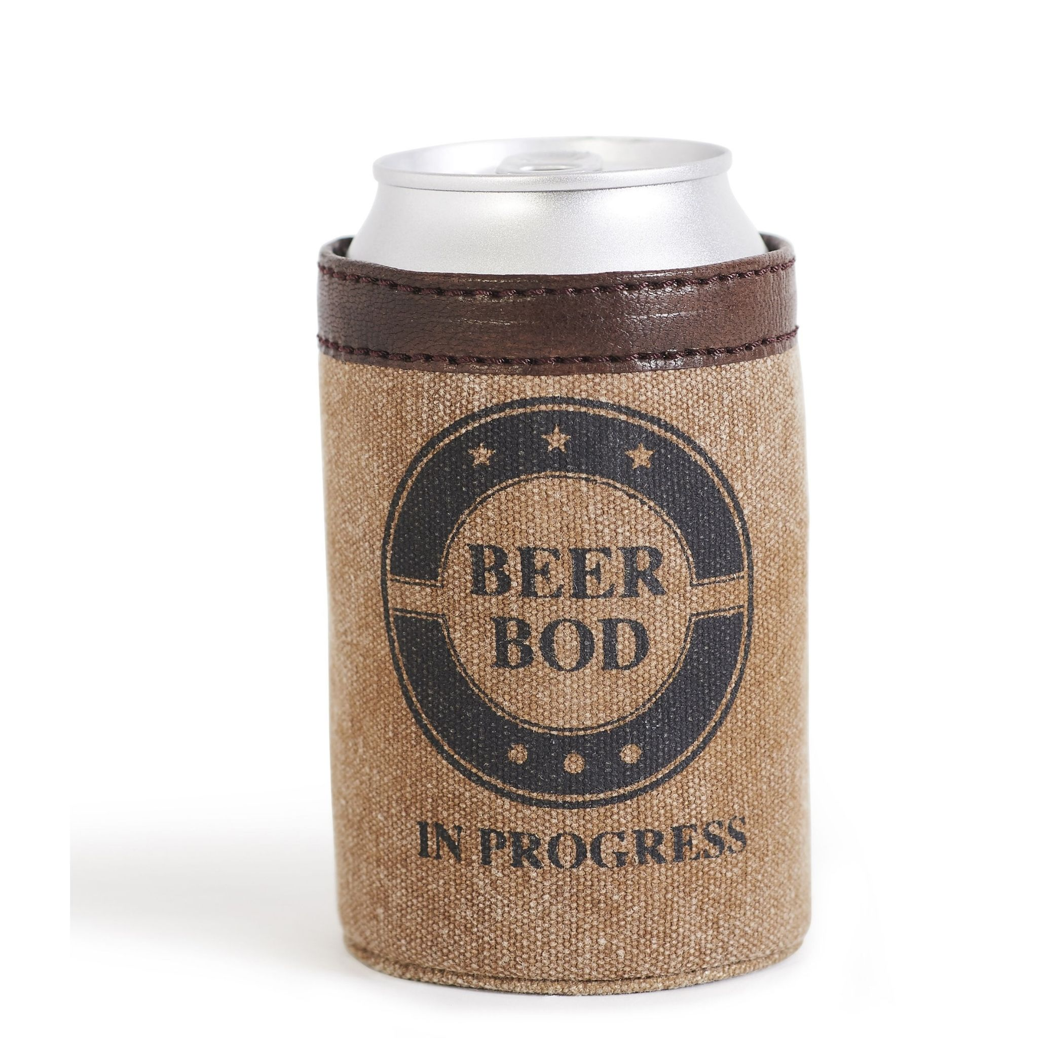 Mona B Beer Bod Up-Cycled Canvas Can Cover *last chance