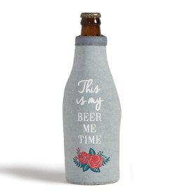 Mona B Beer me Up-Cycled Canvas Bottle Cover