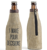 Mona B Super Dad Up-Cycled Canvas Bottle Cover *last chance