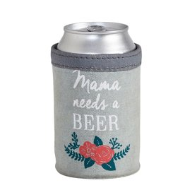 Mona B Mom's Beer Up-Cycled Canvas Can Cover