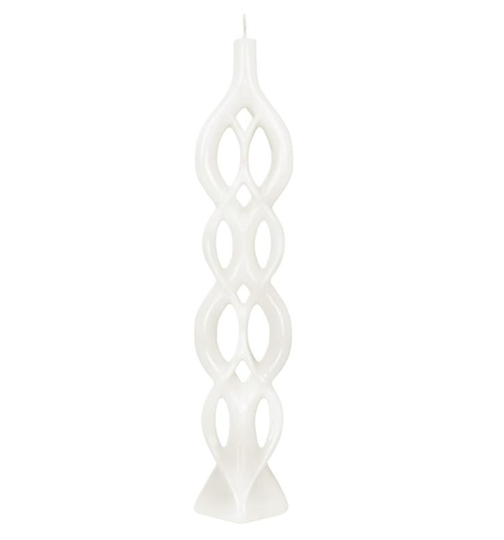 Fleurish Home Multiflame Candle Lela White, Unscented
