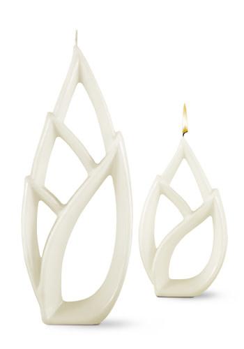Fleurish Home Multiflame Candle Livia Grande White, Vanilla Scent