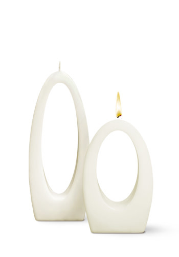 Fleurish Home Multiflame Candle Luna Due White, Unscented