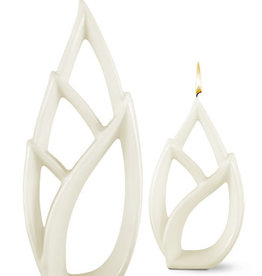 Fleurish Home Multiflame Candle Livia Petit White, Unscented