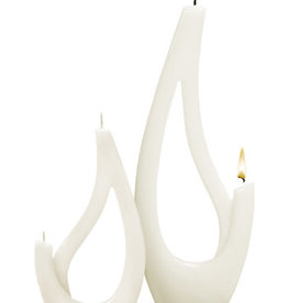 Fleurish Home Multiflame Candle Saba Grande White, Unscented