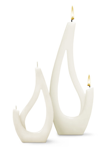 Fleurish Home Multiflame Candle Saba Grande White, Unscented