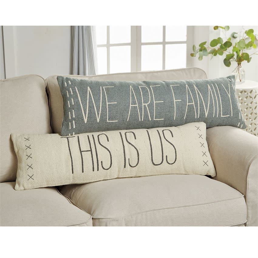 Mudpie THIS IS US LONG DHURRIE PILLOW
