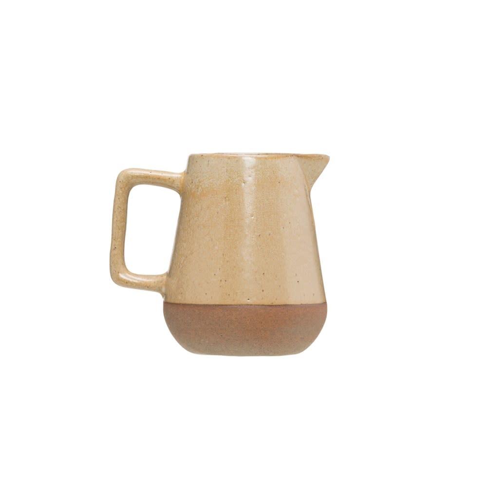 Fleurish Home Beige Reactive Glaze Stoneware Creamer