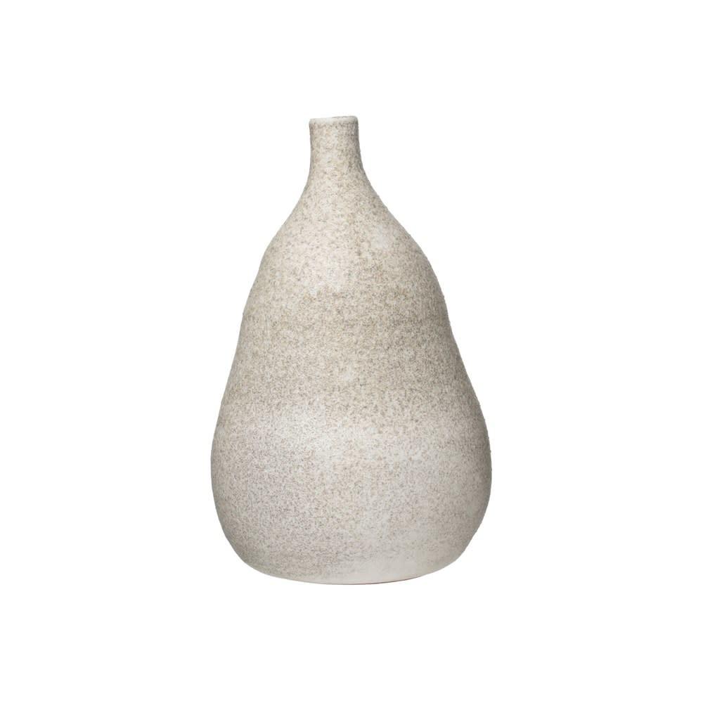 Fleurish Home Medium Distressed Cream Glaze Terracotta Vase