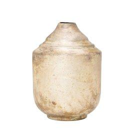 Fleurish Home Antiqued Champagne Gold Metal Vase