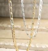 Fleurish Home Brass Metal Linked Choker Necklace