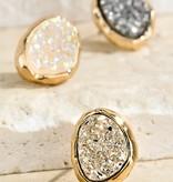 Fleurish Home Oval Druzy-Look Stud Earrings