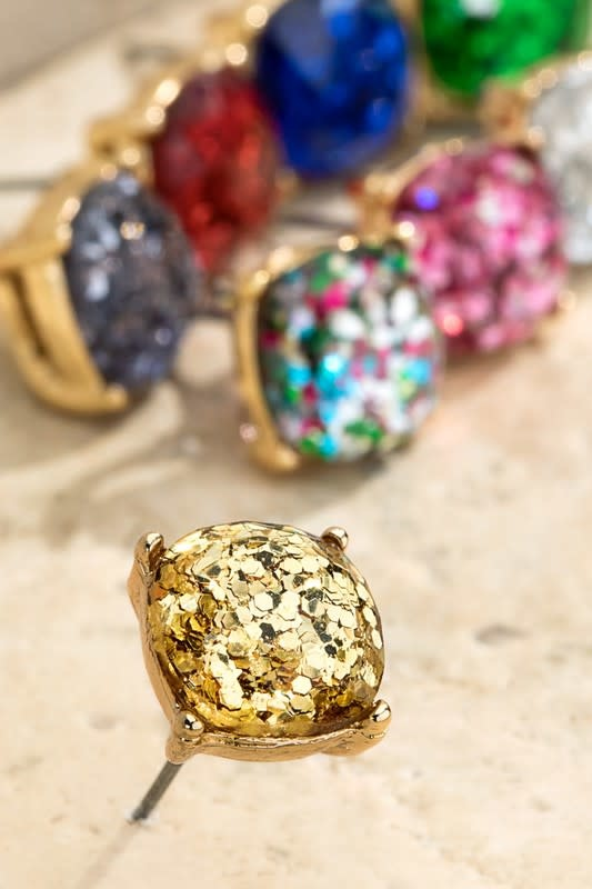 Fleurish Home Sparkling Glittery Stud Earrings