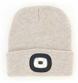 Night Scout Night Scout Flashlight Oatmeal Knit Beanie Hat