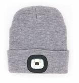 Night Scout Night Scout Flashlight Grey Knit Beanie Hat