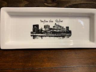 Fleurish Home Dayton Skyline Rectangular Plate