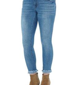 Democracy Light Blue Denim Ankle Skimmer Jeans w Chewed Hem *last chance