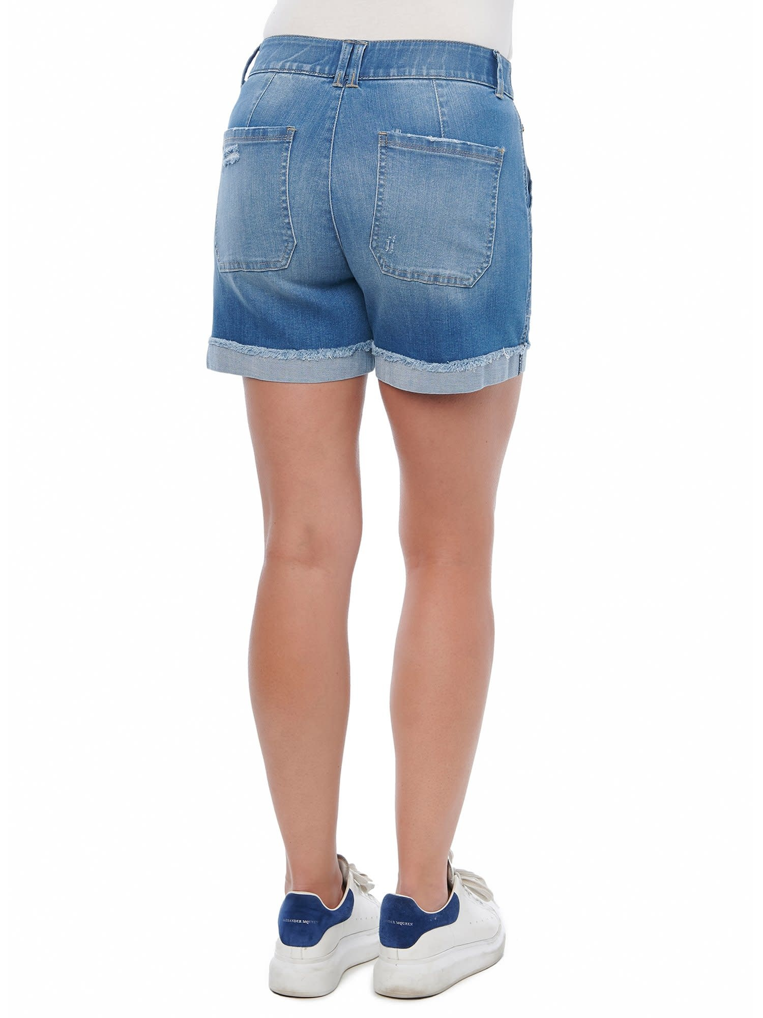 Democracy Mid Blue Vintage High Rise Shorts