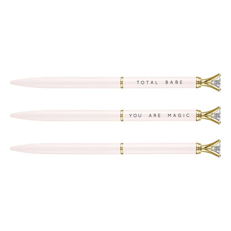 Fleurish Home Mini Gem Pen- Bluish/White