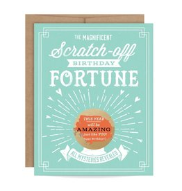 Inklings Paperie Mint Birthday Fortune Scratch-Off Card