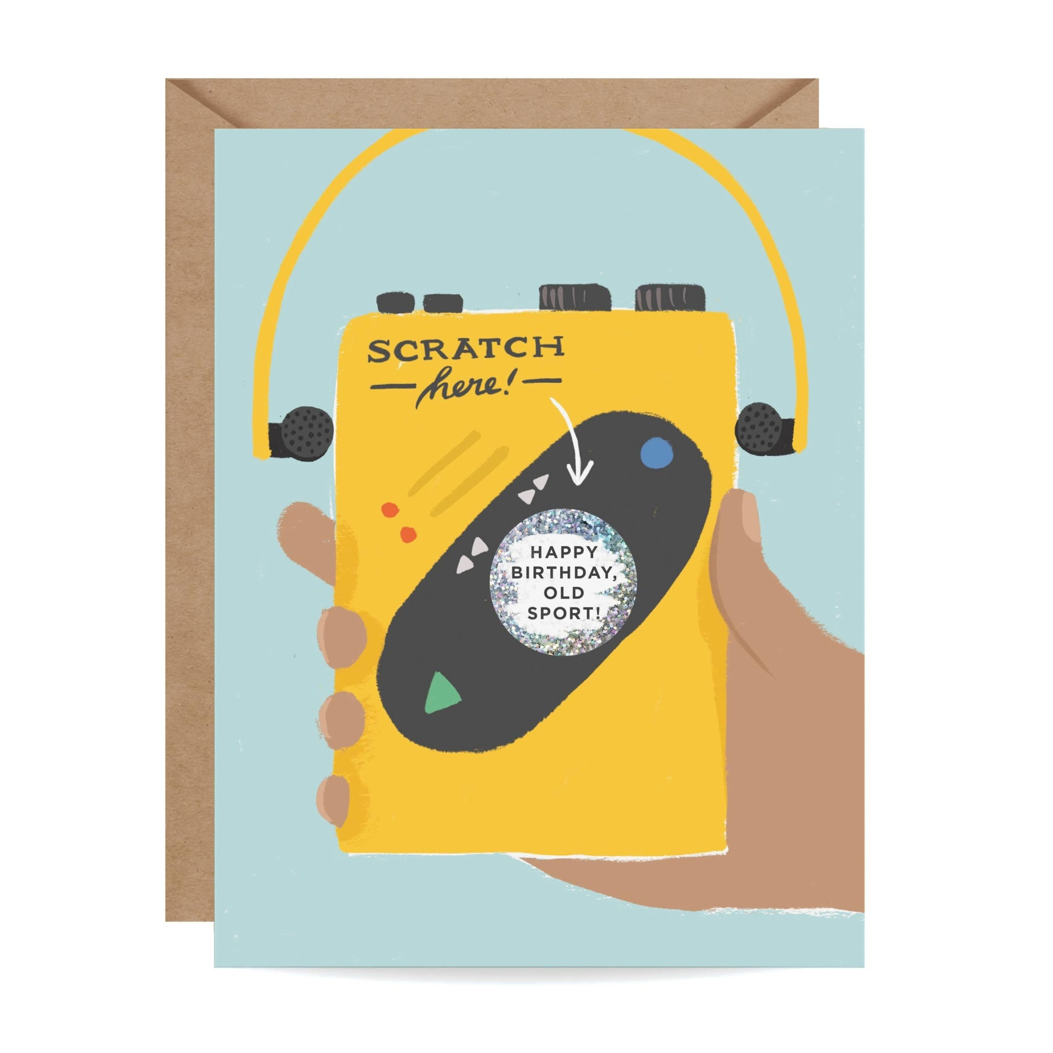 Inklings Paperie Old Sport Scratch-off Card