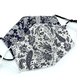 Fleurish Home Navy & White Paisley Print Fashion Mask (2 styles)