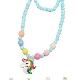 Fleurish Home *last chance* Kid's Unicorn Necklace/Bracelet Set (various colors)