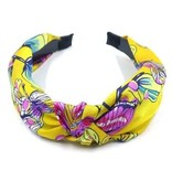 Fleurish Home Tropical Floral Knotted Satin Headband (various colors)