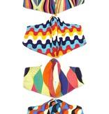 Fleurish Home Colorful Geometric Print Fashion Mask (various patterns)