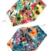 Fleurish Home Colorful Floral Fashion Mask (choice of 2 colorways)