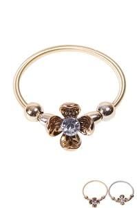 Fleurish Home Metal Flower Stretch Bracelet