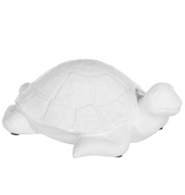"Fleurish Home WHITE CERAMIC TURTLE (4"")"