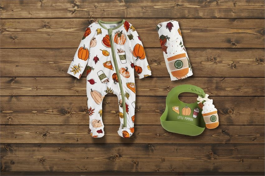 Mudpie Pumpkin Bib And Rattle Set