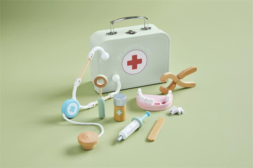 Mudpie Medical Kit Wood Toy Set