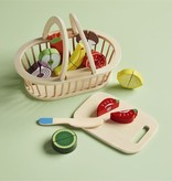 Mudpie Produce Basket Wood Toy Set