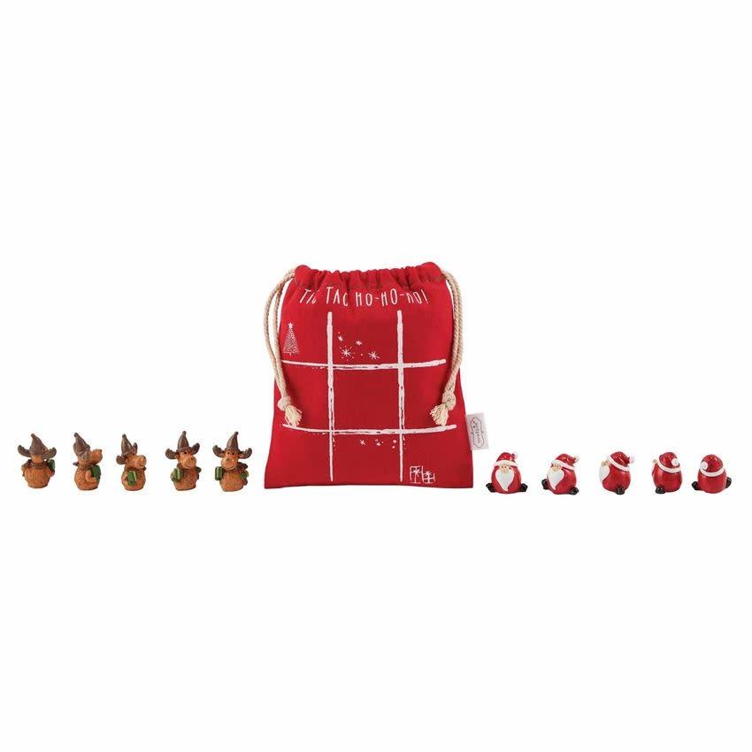 Mudpie RED TIC TAC TOE CHRISTMAS SET