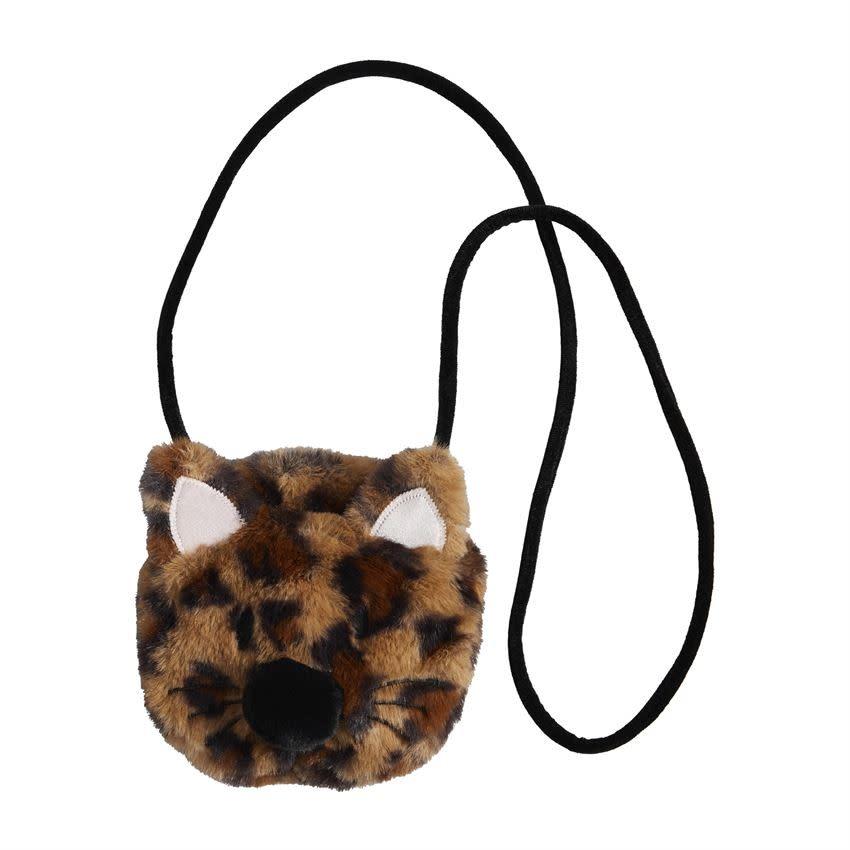 Mudpie BROWN LEOPARD CAT PURSE