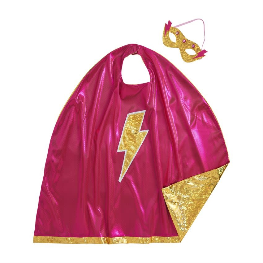 Mudpie Girl Cape And Lite Up Mask Set